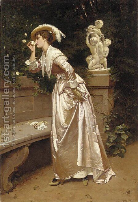 A heavenly scent by Italian School - Reproduction Oil Painting