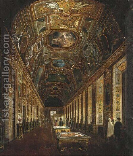 The Uffizi, Florence by Italian School - Reproduction Oil Painting