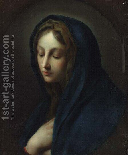 The Madonna in prayer by Italian School - Reproduction Oil Painting