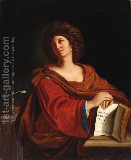 The Samian Sibyl by Italian School - Reproduction Oil Painting