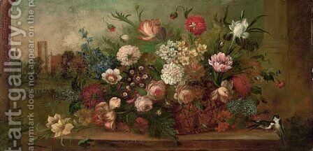 Flowers 2 by Italian School - Reproduction Oil Painting