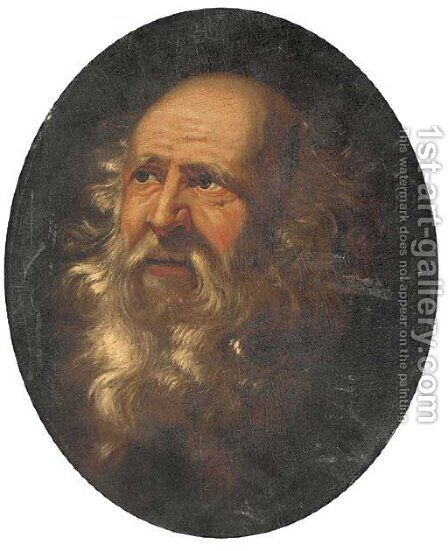 Portrait of a bearded gentleman by Italian School - Reproduction Oil Painting
