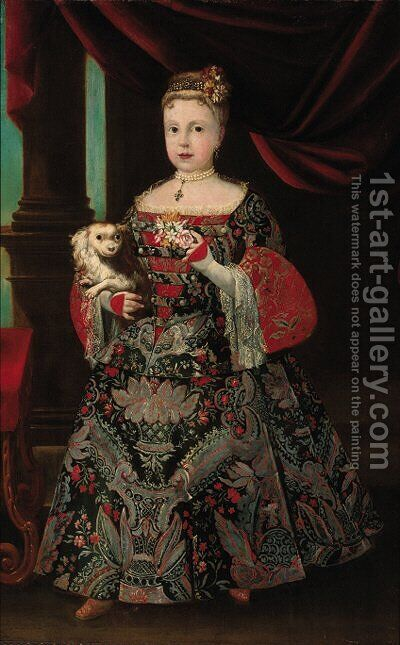 Portrait of Margarita of Austria by Italian School - Reproduction Oil Painting