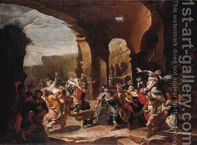 The Rape of the Sabine Women by Italian School - Reproduction Oil Painting