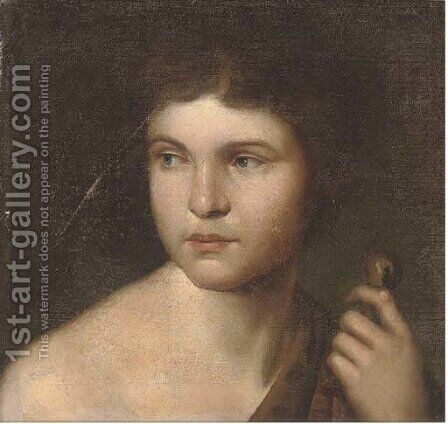 Saint John the Baptist by Italian School - Reproduction Oil Painting