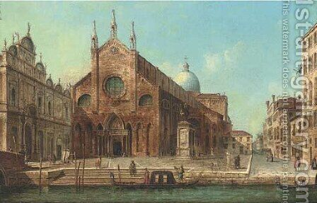 Piazza San Zaccaria, Venice by Italian School - Reproduction Oil Painting