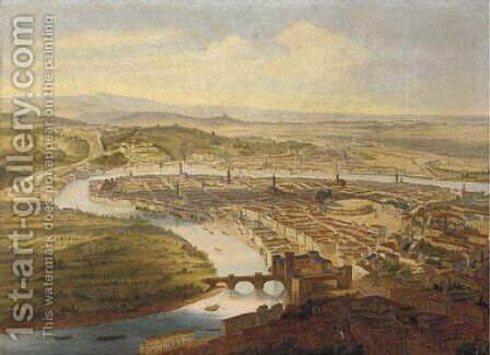 Verona - a panorama by Italian School - Reproduction Oil Painting