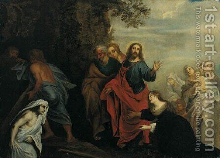 The Raising of Lazarus by Italian School - Reproduction Oil Painting
