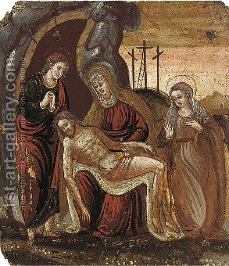 The Lamentation by Italio-Cretan School - Reproduction Oil Painting
