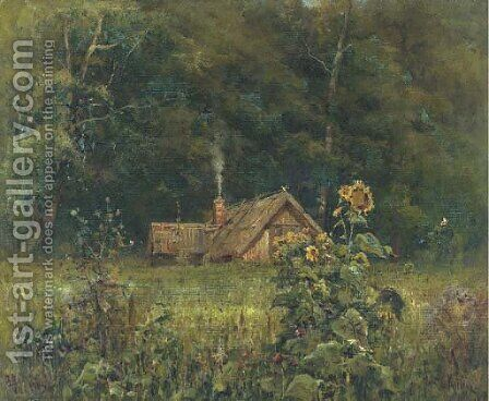 Cottage in the forest by Iulii Iul'evich (Julius) Klever - Reproduction Oil Painting