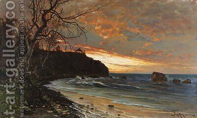 Rocky Seashore by Iulii Iul'evich (Julius) Klever - Reproduction Oil Painting
