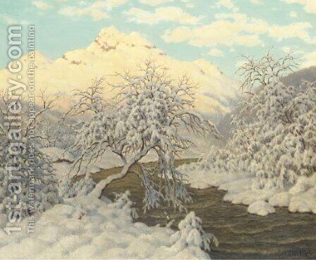 Lever du soleil, Haute-Savoie by Ivan Fedorovich Choultse - Reproduction Oil Painting