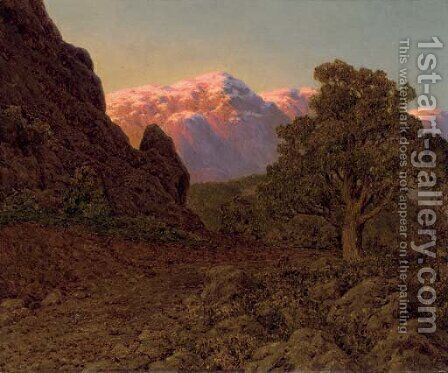Sunrise over the Mountain by Ivan Fedorovich Choultse - Reproduction Oil Painting