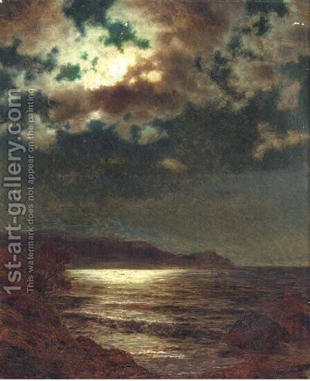 Moonlit seascape by Ivan Fedorovich Choultse - Reproduction Oil Painting