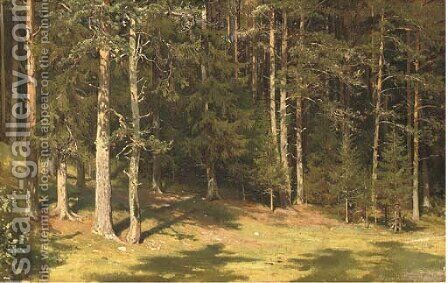 Forest glade by Ivan Shishkin - Reproduction Oil Painting