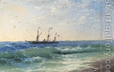 Coastal Shipping by Ivan Konstantinovich Aivazovsky - Reproduction Oil Painting
