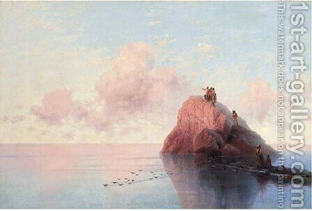 Dawn at sea by Ivan Konstantinovich Aivazovsky - Reproduction Oil Painting