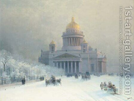 St. Isaac's on a frosty day by Ivan Konstantinovich Aivazovsky - Reproduction Oil Painting