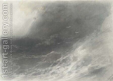 Storm at sea by Ivan Konstantinovich Aivazovsky - Reproduction Oil Painting