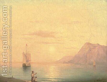 Sunset over the sea by Ivan Konstantinovich Aivazovsky - Reproduction Oil Painting