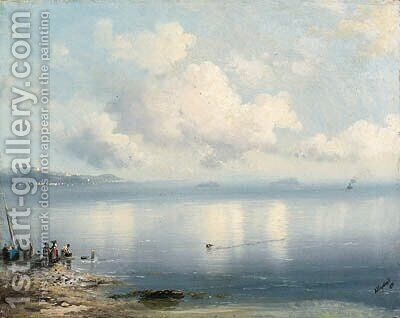 Tranquil Seascape by Ivan Konstantinovich Aivazovsky - Reproduction Oil Painting