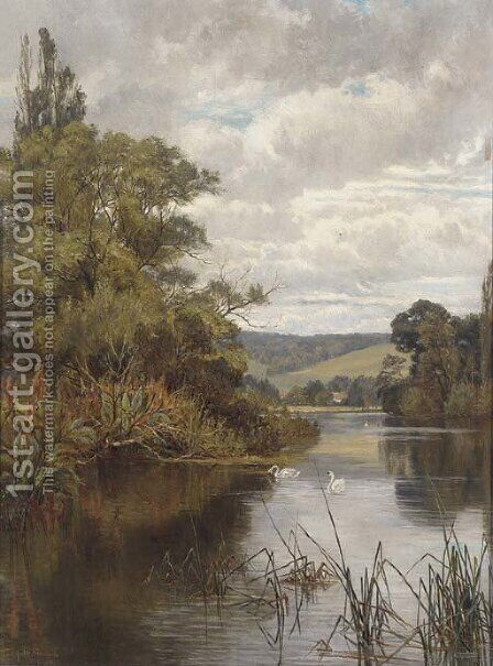 Henley Reach by J. Deane Simmons - Reproduction Oil Painting