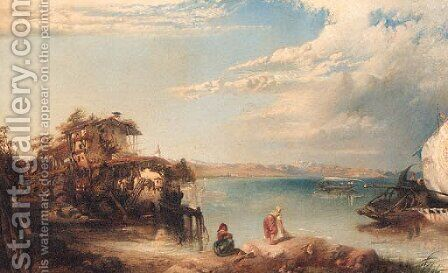 Lago di Garda by James Vivien de Fleury - Reproduction Oil Painting
