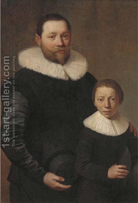 Double portrait of a father and son by Jacob Gerritsz. Cuyp - Reproduction Oil Painting