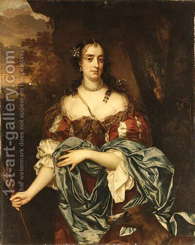 Portrait of a Lady- Queen Catherine of Braganza by Jacob Huysmans - Reproduction Oil Painting