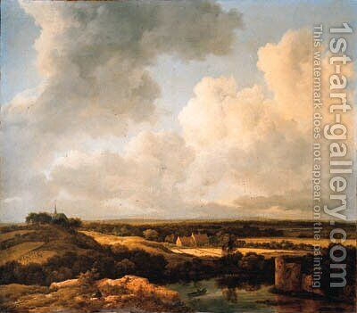 An extensive landscape in summer by Jacob Van Ruisdael - Reproduction Oil Painting