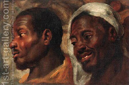 Head studies of two African men by Jacob Jordaens - Reproduction Oil Painting