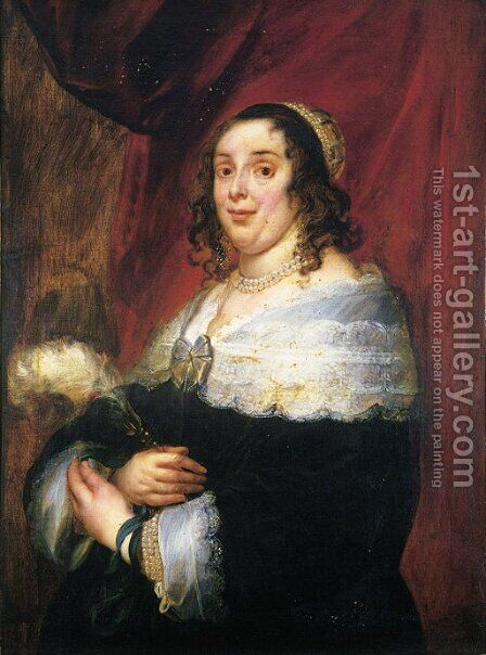 Portrait of a lady by Jacob Jordaens - Reproduction Oil Painting