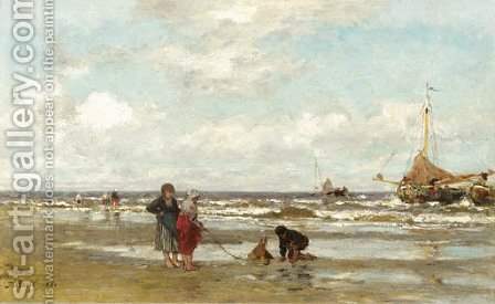 Shore at Scheveningen by Jacob Henricus Maris - Reproduction Oil Painting