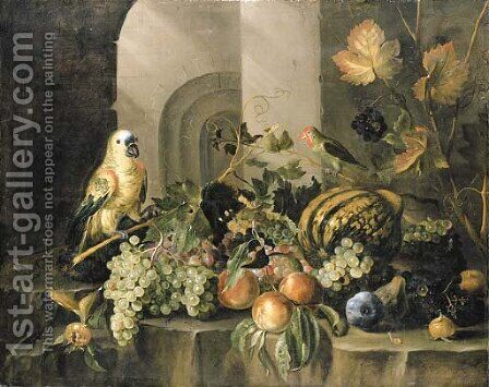 A parrot by Jacob Marrel - Reproduction Oil Painting