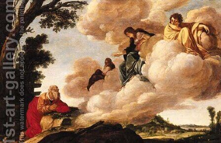 Abraham and the three Angels by Jacob Pynas - Reproduction Oil Painting