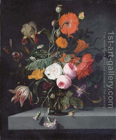 Roses by Jacob van Walscapelle - Reproduction Oil Painting