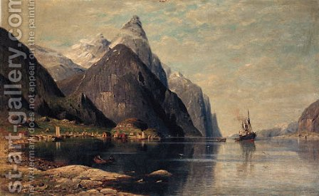 Lofoten, Norway by Jacobus Johannes Van Poorten - Reproduction Oil Painting