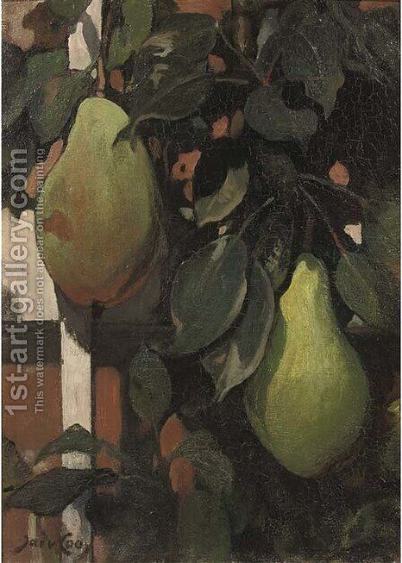 Pears by Jacobus Van Looy - Reproduction Oil Painting