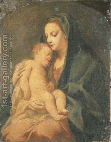 The Madonna and Child by Jacopo (Giacomo) Amigoni - Reproduction Oil Painting