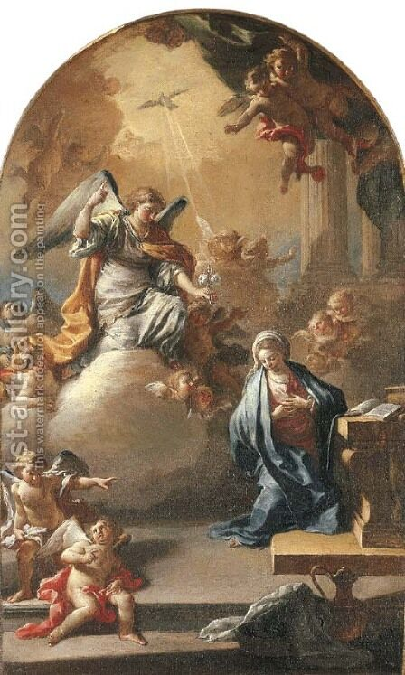The Annunciation by Jacopo Cestaro - Reproduction Oil Painting