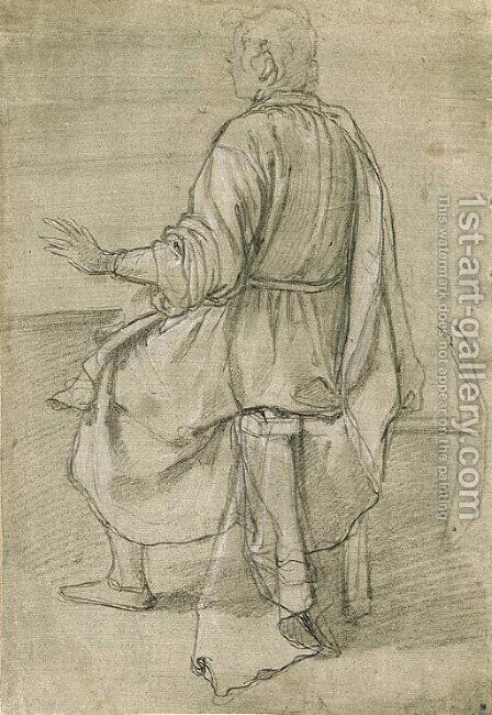A seated young man seen from behind by (Jacopo Chimenti) Empoli - Reproduction Oil Painting