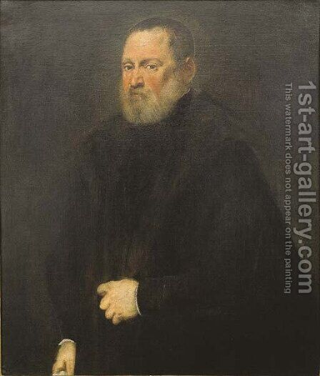 Portrait of a man 4 by Jacopo Tintoretto (Robusti) - Reproduction Oil Painting