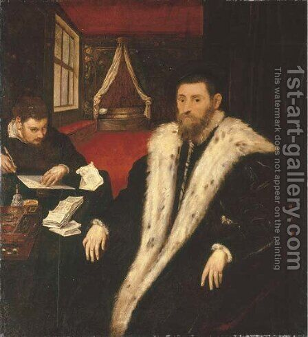 Portrait of a nobleman by Jacopo Tintoretto (Robusti) - Reproduction Oil Painting