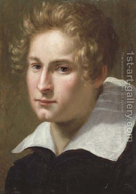 Portrait of a young man by Jacopo Vignali - Reproduction Oil Painting