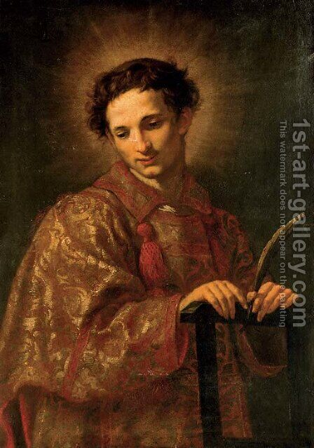 Saint Lawrence by Jacopo Vignali - Reproduction Oil Painting