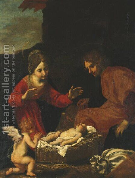 The Holy Family by Jacopo Vignali - Reproduction Oil Painting