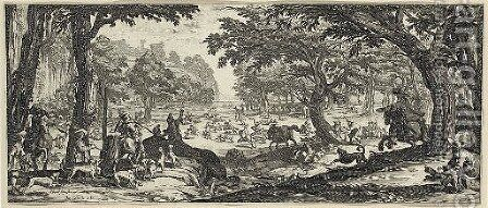 La Grande Chasse by Jacques Callot - Reproduction Oil Painting