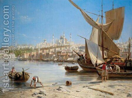 Constantinople by Jacques Carabain - Reproduction Oil Painting