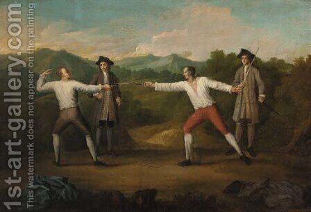 A duel by James Parmentier - Reproduction Oil Painting
