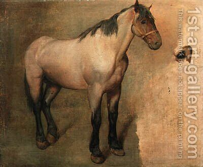 Study of a bay Horse by Jacques Laurent Agasse - Reproduction Oil Painting